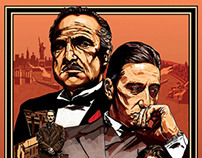 The Godfather Trilogy Poster, self initiated project