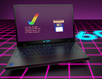 Commodore Amiga 600 laptop computer design