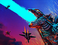 Godzilla 2014 Poster Posse Project