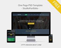 One Page PSD Template - StudioPortfolio -