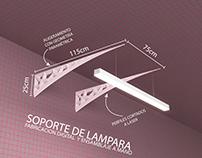METRO - lamp support