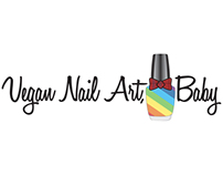 Vegan Nail Art, Baby Blog Logo
