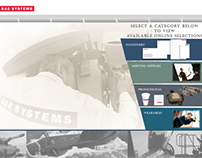 Bae Systems landing page