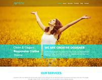 Artistic Portfolio/Blog Site template
