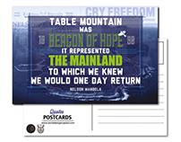 Cape Town Typographic Postcards