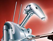 Star Wars Episodes 1 - Robot In Adobe Illustrator