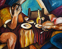 Das späte Essen / The Late Dinner / Social Nervousness