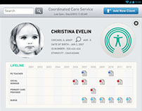 Coordinate Care Service Android App UI design
