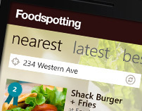 Foodspotting Windows Phone 7 Application