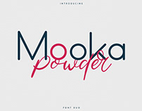 Mooka Powder - font duo. Free fonts included