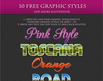 10 FREE Colorful Graphic Styles for Adobe Illustrator