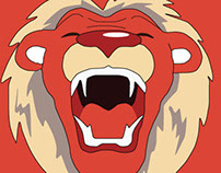 Lion vector, mascotte of my website