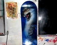 snowboard wolf