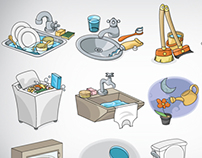 Icons for water supply company