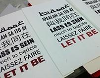 Typographic Screen Prints