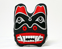 Bear Mask decoration inspired by Haida art