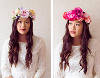 PHOTOGRAPHY // Rose Tinted Handmade Flower Crowns
