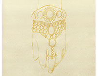 Costume Jewelry Hand-sketching 时尚配饰手绘效果图
