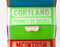 Les pommes du Québec . Packaging
