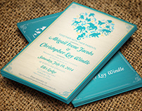 Wedding Invites & RSVP Postcard Set