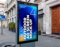 Milan Outdoor Advertising Screen Mock-Ups 1