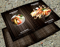 Bifold Restaurant Menu