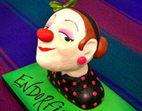 """Endorfina"" - a clown sculpture"