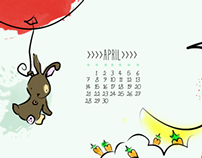 April Screensaver calendar