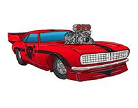Muscle Car Illustration