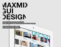 MAXMIX. Concept GUI & Motion