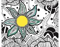 Chinese zen flower doodle