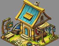 concept and illustration of building for social game