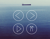 Outlined Music Player Buttons