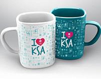 I Love Saudi Arabia Mug