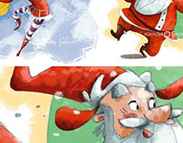 Christmas-characters and illustrations-various clients