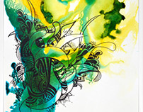 Encre sur papier I come from the water 7
