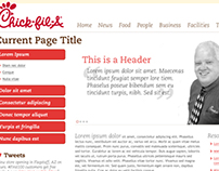 Chick-Fil-A Intranet Web Design