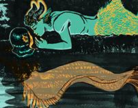 Satyr and Mermaid
