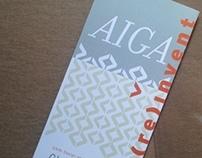 AIGA Gain Conference Identity
