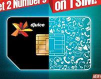DJUICE 1 SIM DUAL NUMBER