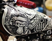 Fuel Tank - Cool Kid Customs Yahama X650