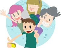 Sony Xperia selfie tips- ilustraciónes