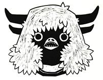 Psychopompos in Black: linoprint project