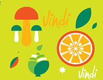 Patrón Frutas