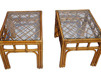 Rattan Side Tables