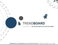 Trendboard: Site évènementiel sur la recherche spatiale