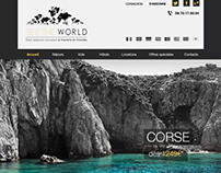 Webdesign: Un concept de site de voyage luxueux