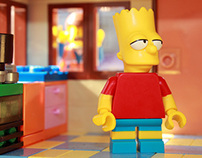 Lego The Simpsons meet Emmet