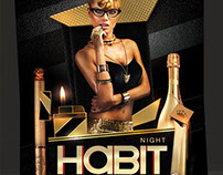 Habit and Gold Flyer Template