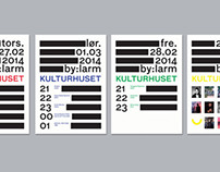 Posters for Kulturhuset i Oslo